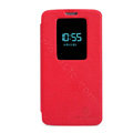 Nillkin Victory Flip leather Case Button Holster Cover Skin for LG Optimus G2 D802 - Red