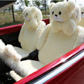 Mei Mei Bear Universal Automobile Car Seat Cover Camel Velvet Cushion 10pcs - Beige
