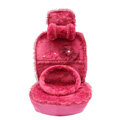 OULILAI Lace Bowknot Universal Automobile Car Seat Cover Cushion Plush 7pcs - Rose