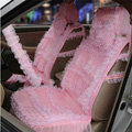OULILAI Lace Flower Universal Automobile Car Seat Cover Ice silk Cushion 15pcs - Pink