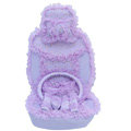 OULILAI Lace Flower Universal Automobile Car Seat Cover Velvet 21pcs - Purple