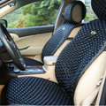 Best Universal Genuine Sheepskin Car Seat Cover Leather Wool Auto Cushion 4pcs Sets - Black