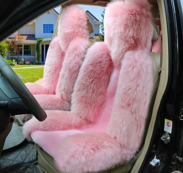 Sideless Sheepskin Seat Covers For Cars