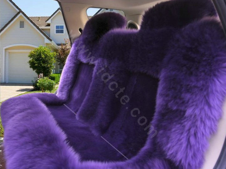 Furry Purple Car Seat Covers