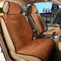 Universal Summer Ice Velvet Plush Car Seat Cover Auto Cushion 11pcs Sets - Brown