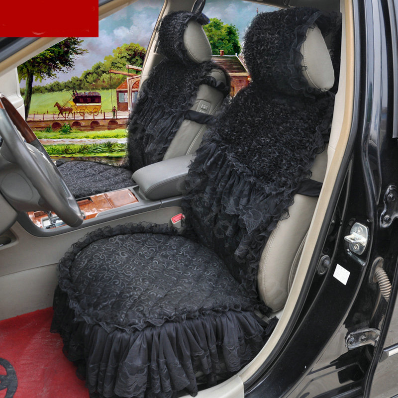 buy wholesale luxury universal cotton lace flower car seat cover auto cushion 7pcs sets purple. Black Bedroom Furniture Sets. Home Design Ideas
