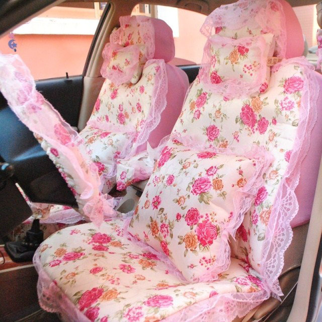 buy wholesale universal flax cotton hawaiian floral print car seat cover auto cushion 10pcs sets. Black Bedroom Furniture Sets. Home Design Ideas