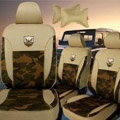 Best Customized Cotton Camo Auto Car Seat Covers 10pcs Sets for Vehicle - Brown