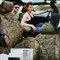 Best Customized Cotton Realtree Camo Auto Car Seat Covers 10pcs Sets for Vehicle - Green