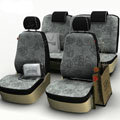 Flower Print Customized Floral Auto Car Seat Covers 8pcs Sets for Vehicle - Grey