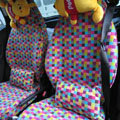 Lattice Canvas Customized Cotton Auto Car Seat Covers 2pcs Sets for Benz Smart - Pink