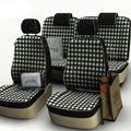 Lattice Customized Cotton Auto Car Seat Covers 8pcs Sets for Vehicle - White
