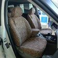 Leopard Print Canvas Customized Cotton Auto Car Seat Covers 2pcs Sets for Benz Smart - Brown