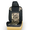 Quality Customized Cotton Camo Auto Car Seat Covers 10pcs Sets for Vehicle - Black