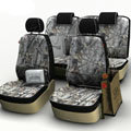 Realtree Personalized Customized Cotton Camo Auto Car Seat Covers 8pcs Sets for Vehicle - Grey
