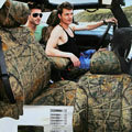 Sportsman Customized Realtree Camo Auto Car Seat Covers 10pcs Sets for Jeep Commander - Green