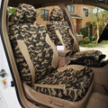 Tailored Custom Made Camo Automotive Car Seat Covers 8pcs Sets for Vehicle - Green