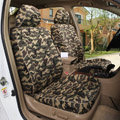 Tailored Customize Camo Automotive Car Seat Covers 8pcs Sets for Vehicle - Green
