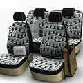 Tree Print Customized Cotton Auto Car Seat Covers 8pcs Sets for Vehicle - Grey