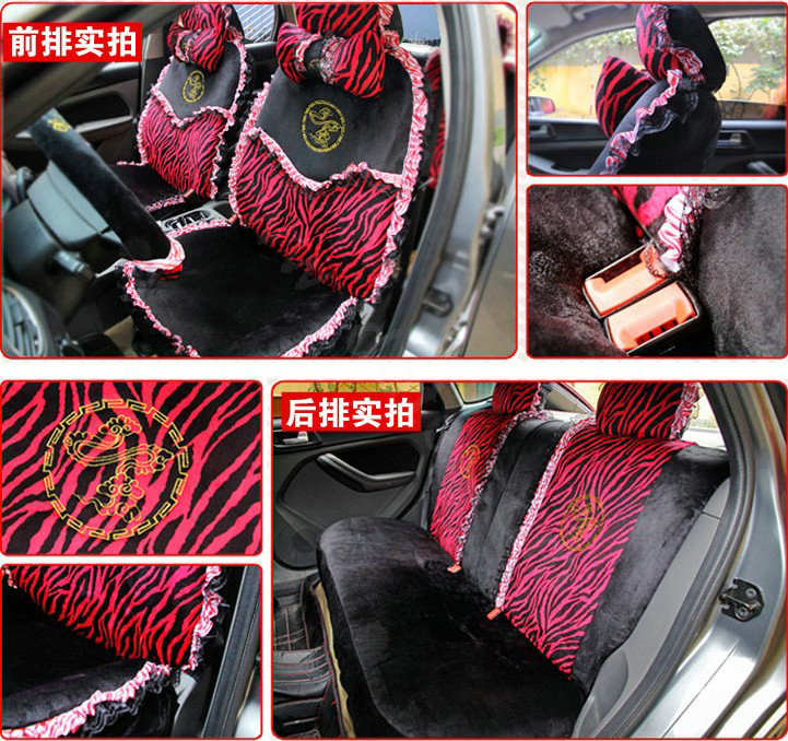Pink And Black Zebra Print Car Seat Covers - Velcromag