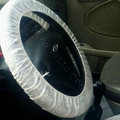 Universal Non-woven Disposable Automotive Car Steering Wheel Covers 10pieces - White