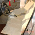 Universal Non-woven Disposable Car Front + Rear Bench Seat Covers 3pieces Sets - Beige
