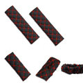 Good Line PU Leather Automotive Interior Car Decoration 5pcs Sets - Red