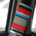 Personalised Canvas Cloth Cotton Line Auto Seat Safety Belt Covers Car Decoration 2pcs - Red
