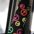 Personalised Canvas Cloth Cotton Peace Sign Auto Seat Safety Belt Covers Car Decoration 2pcs - Rose
