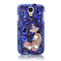Bling Crystal Cover Rhinestone Diamond Case For Samsung Galaxy S5 i9600 - Blue