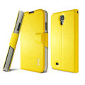 IMAK R64 lines leather Case support Holster Cover for Samsung Galaxy S5 i9600 - Yellow
