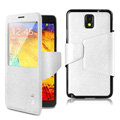 IMAK crystal lines Flip leather Case Support Holster Cover for Samsung Galaxy S5 i9600 - White