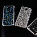 Luxury Bling Case Protective Shell Cover for Samsung Galaxy S5 i9600 - Blue