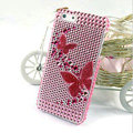 Butterfly diamond Crystal Cases Bling Hard Covers for iPhone 6 - Pink