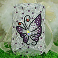 Luxury Bling Holster Covers Butterfly Crystal diamond Cases for iPhone 6 - Purple