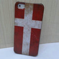Retro Denmark flag Hard Back Cases Covers Skin for iPhone 6