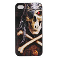 Skull Hard Back Cases Covers Skin for iPhone 6 - Black EB002