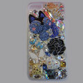 Bling S-warovski crystal cases Flower diamond cover for iPhone 6 Plus - White