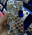 Bling S-warovski crystal cases Peacock diamond cover for iPhone 6 Plus - White