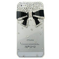 Bowknot diamond Crystal Cases Bling Hard Covers for iPhone 6 Plus - Black