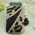 Luxury Bling Holster Covers Crystal diamond leather Cases for iPhone 6 Plus - Gold