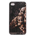Skull Hard Back Cases Covers Skin for iPhone 6 Plus - Black EB003
