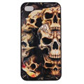 Skull Hard Back Cases Covers Skin for iPhone 6 Plus - Black EB005