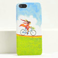 Ultrathin Matte Cases Bicycle girl Hard Back Covers for iPhone 6 Plus - Green