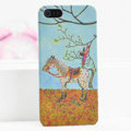 Ultrathin Matte Cases Horse boy Hard Back Covers for iPhone 6 Plus - Yellow