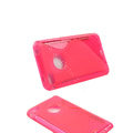 s-mak translucent double color cases covers for iPhone 6 Plus - Red