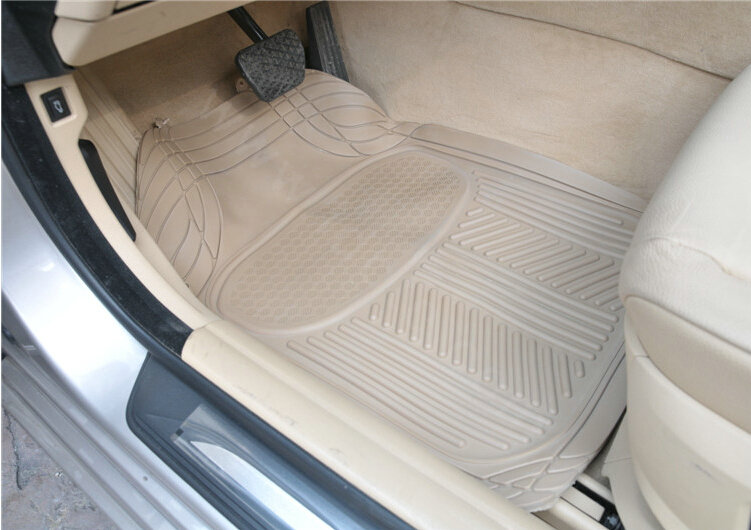 buy wholesale male pvc plastic universal waterproof auto foot carpet floor mats for cars 5pcs sets gray from chinese wholesaler idctecn - Plastic Floor Mat
