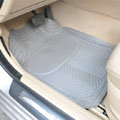 Male PVC Plastic Universal Waterproof Auto Foot Carpet Floor Mats For Cars 5pcs Sets - Gray