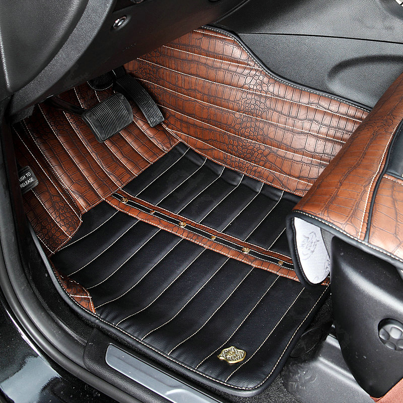 buy wholesale classic crocodile print pvc custom auto carpet car floor mats 5pcs sets for audi. Black Bedroom Furniture Sets. Home Design Ideas