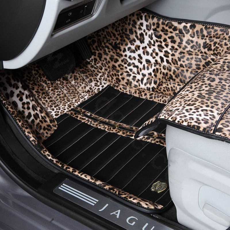 Animal print car accessories animal print floor mats for Floor print